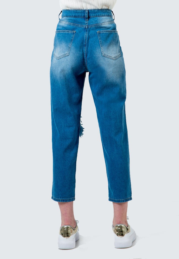 Destroyed Denim Pants