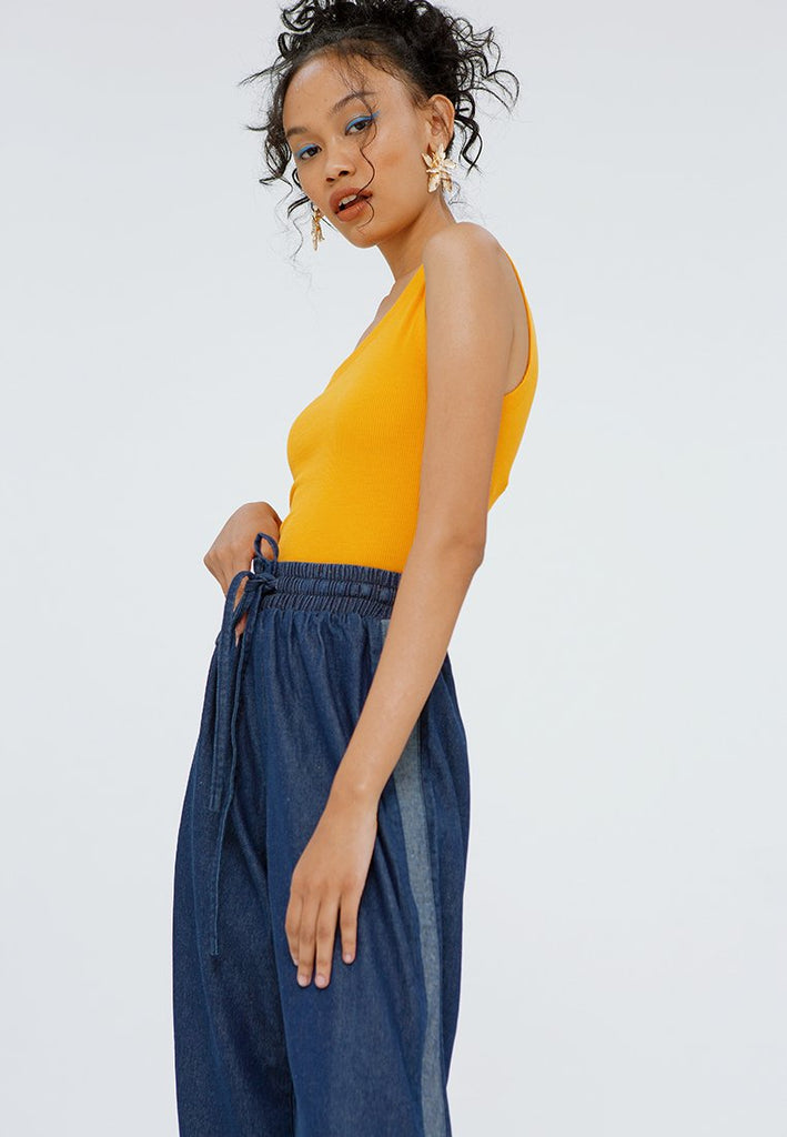 Wide Leg Denim with Snap Button