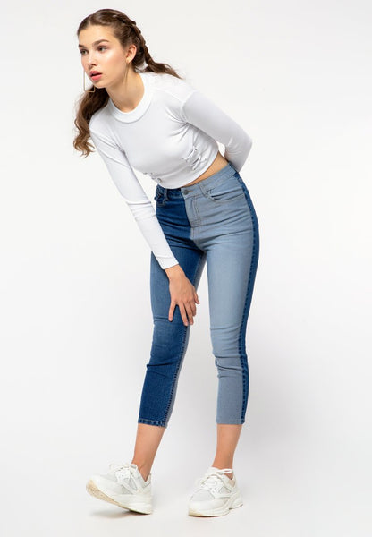 Patch Mom Jeans