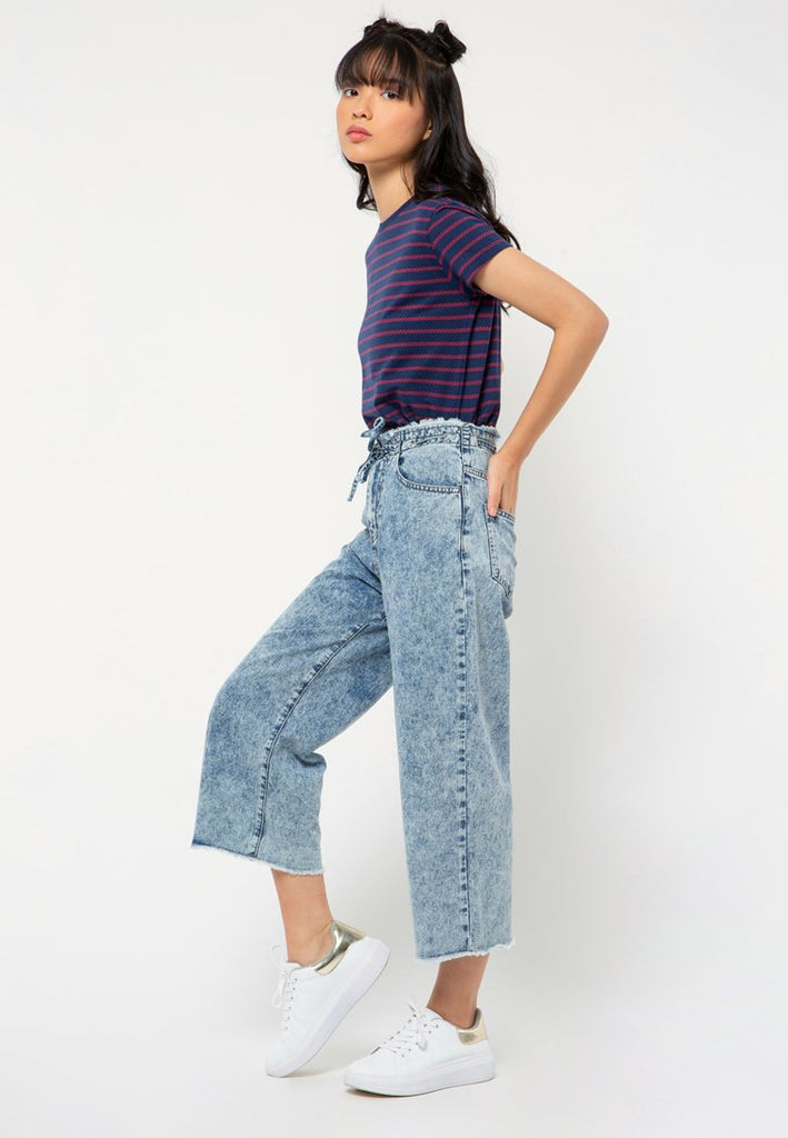 Drawstring Straight Denim