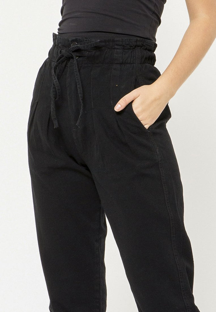 Paperbag Denim Pants