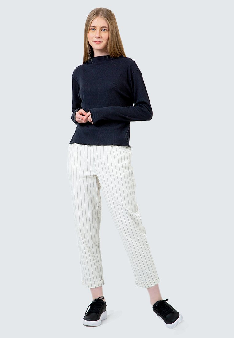 Off White Striped Tailored Pants