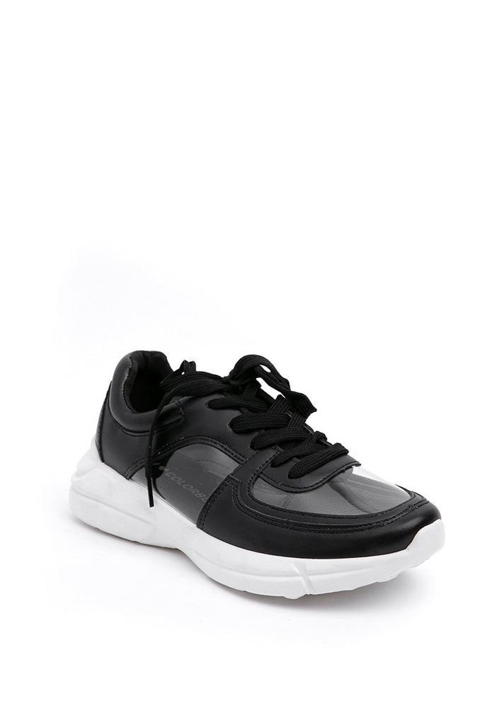 Black Transparent Sporty Shoes