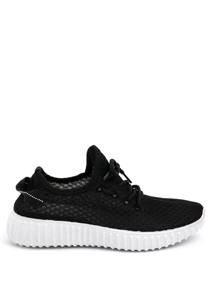Black Net Sporty Shoes