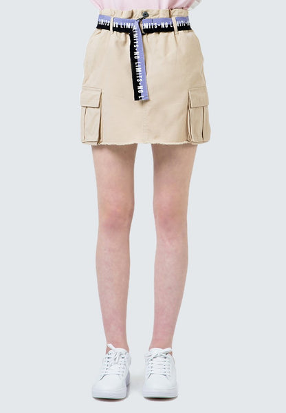 Utility Skirt with Printed belt