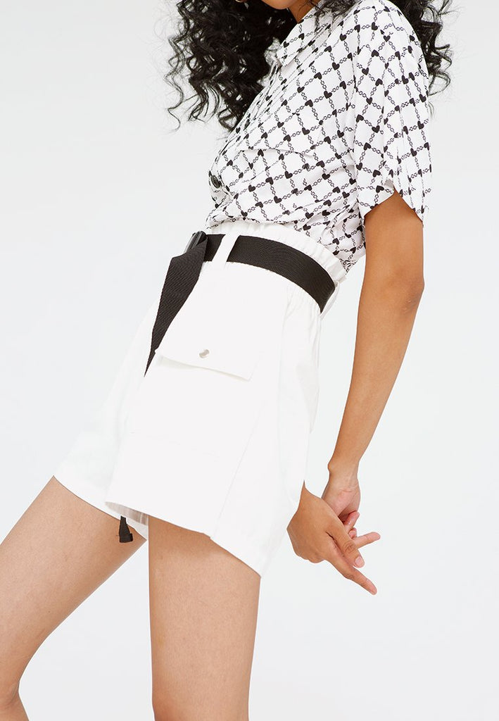 Paperbag Pants with Buckle