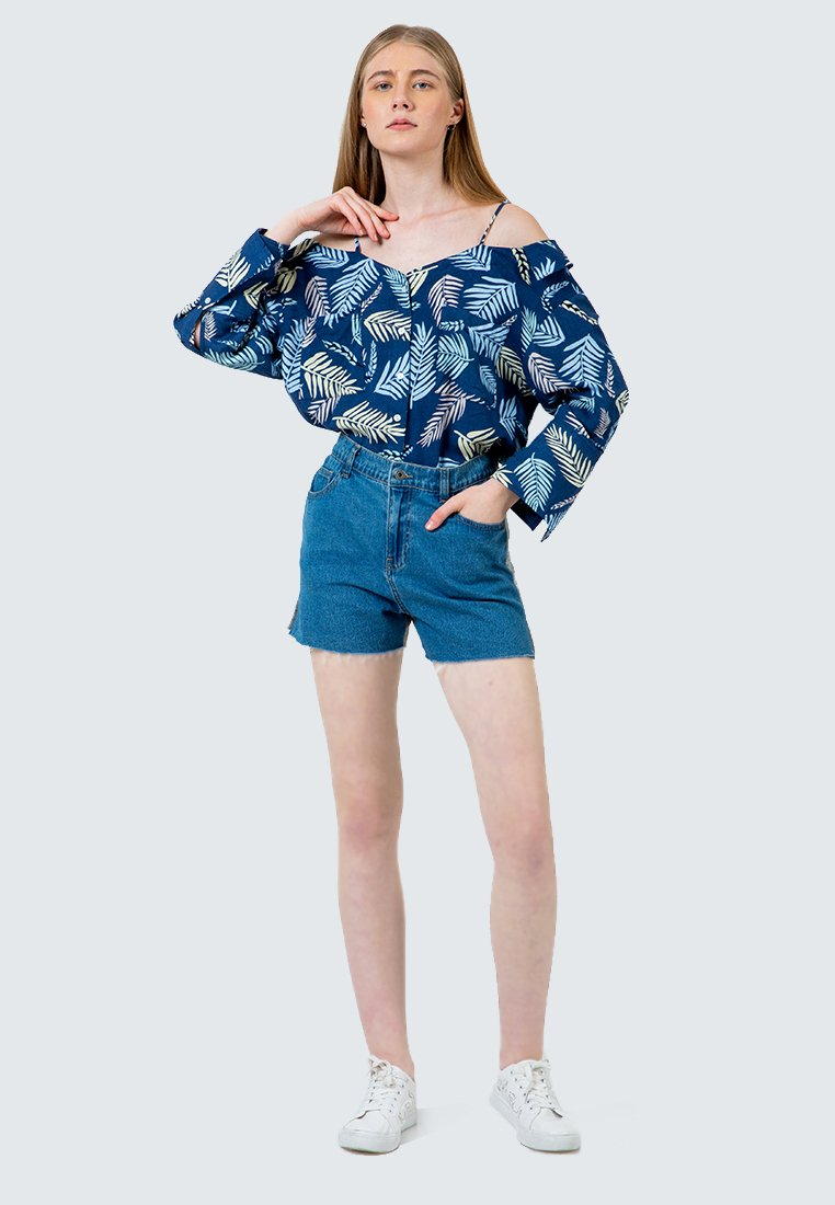 Relaxed Baby Terry Denim Short Pants