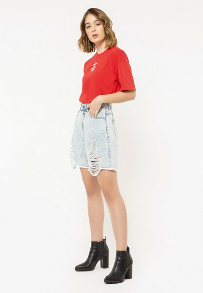 Slouchy Denim Short