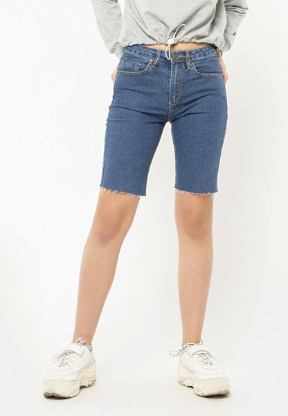 Biker Denim Short