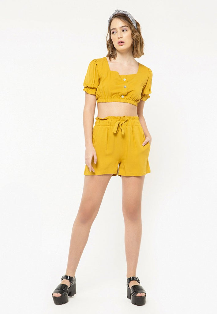 Paperbag Short Pants