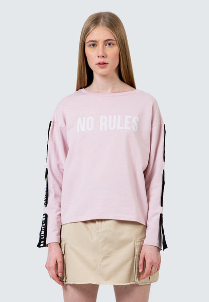 No Rules Print Sweatshirt