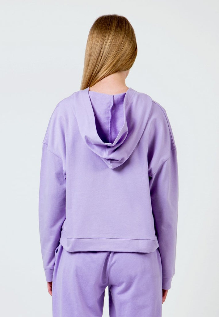 Lilac Hoodie with lacing