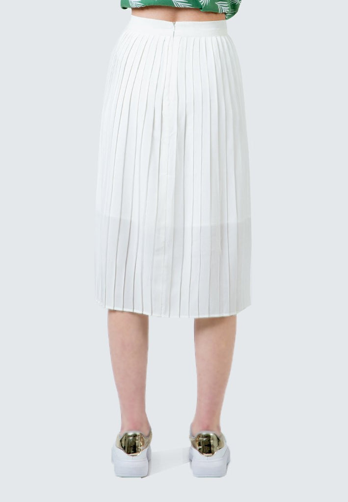 Off white Maxi Pleated Skirt