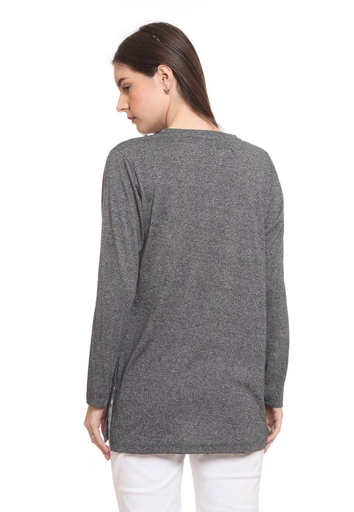 Long Loose Tshirt With Side Slit
