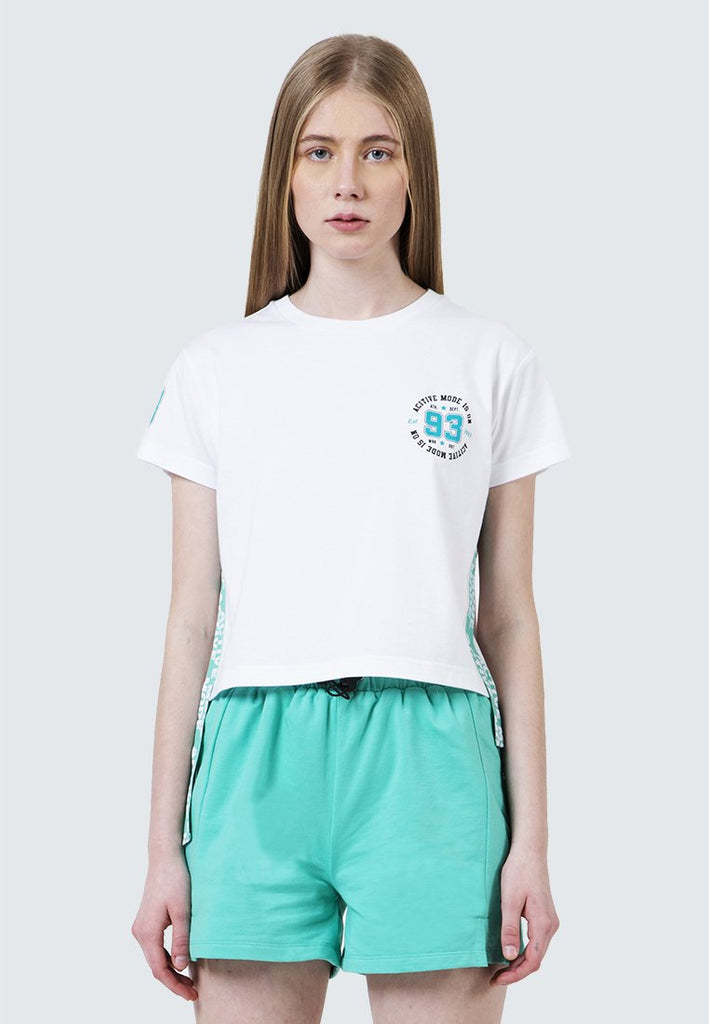 Crop Tee with Side Tape