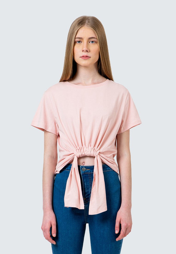 Peach Twisted T-Shirt