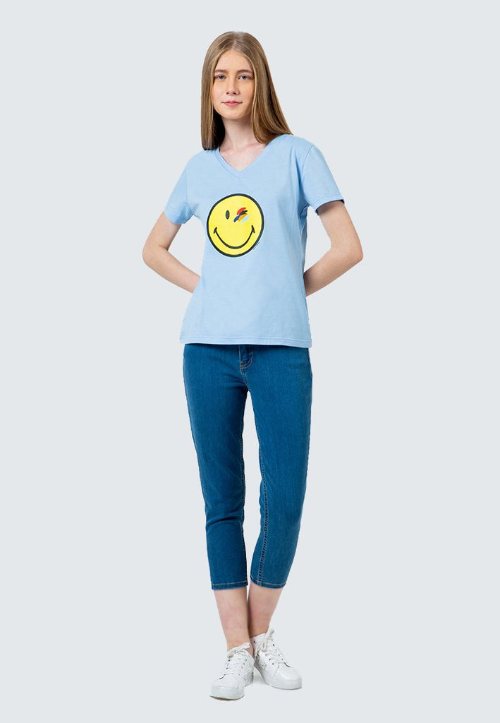 SmileyWorld Watercolor Eye V-Neck T-Shirt