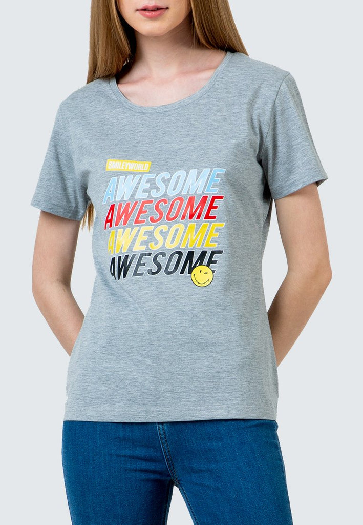 SmileyWorld Awesome Crew Neck t-Shirt