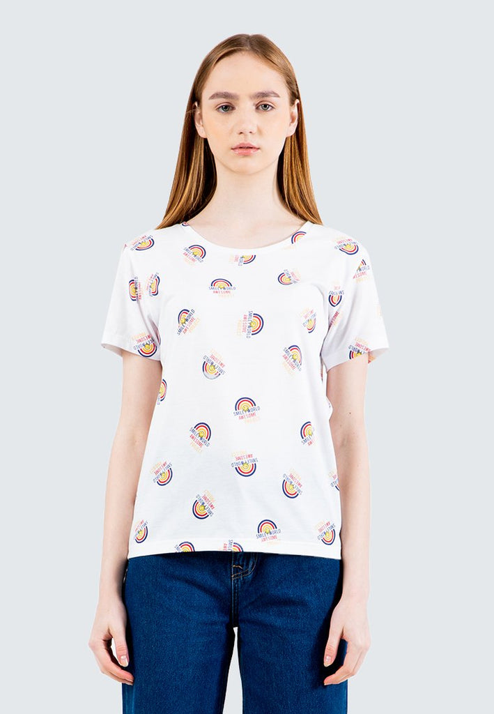 SmileyWorld All-over Print Awesome Project V-Neck T-Shirt