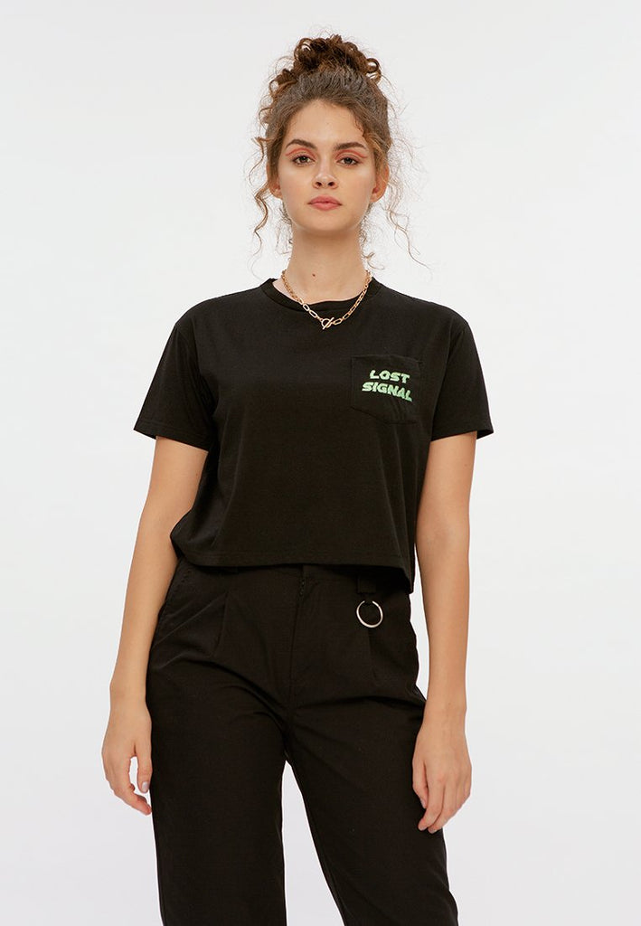 Crop T-shirt with Pocket