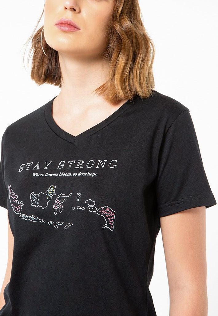 Stay Strong V-Neck T-Shirt