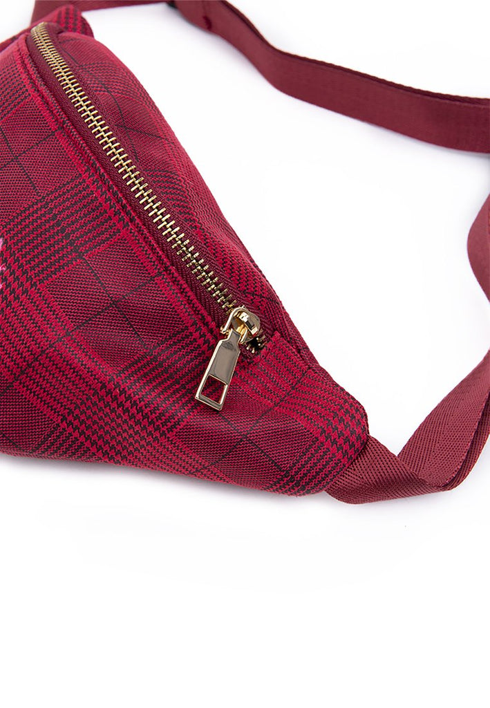 Plaid Waist Bag