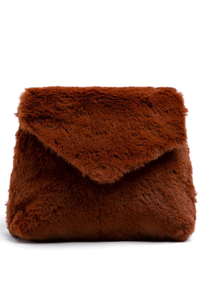 Tan Fur Sling Bag