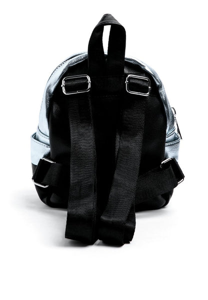 Silver Zipper Backpack