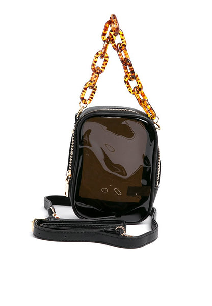 Chain Transparent Handbag - Black