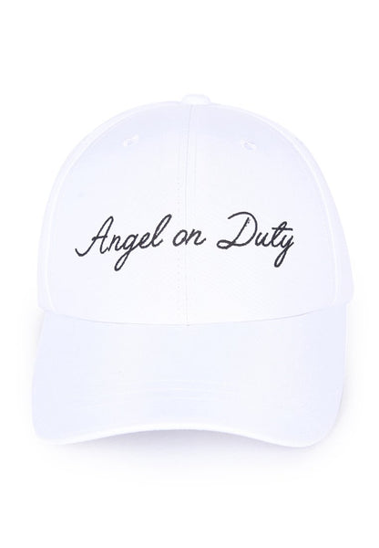 Angel on Duty Cap - White