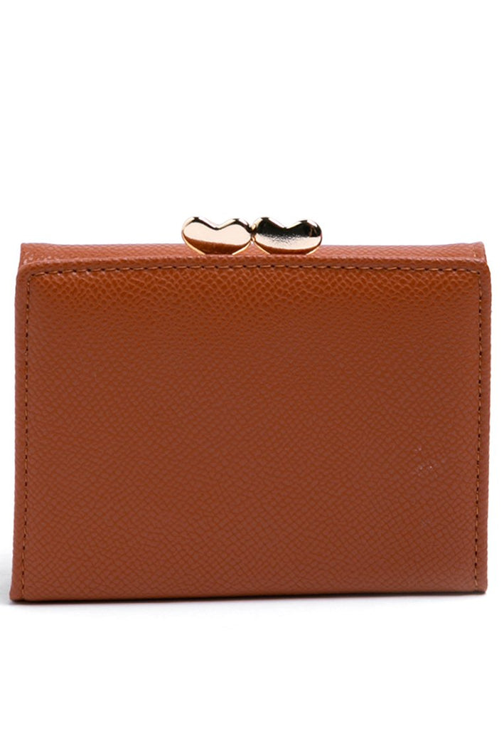 Brown wallet with coin pocket