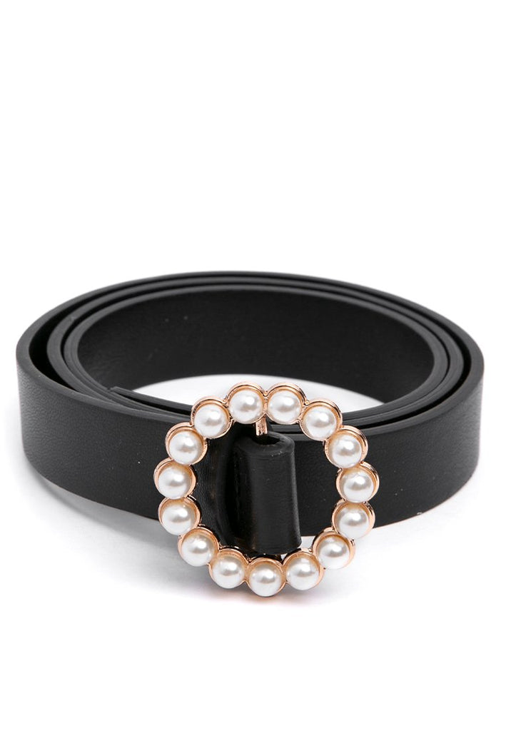 Pearl Waist Belt - Black