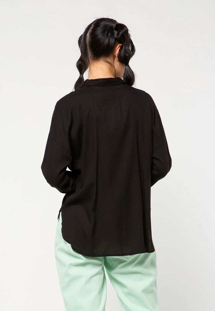 Long Sleeves Shirt with Slit