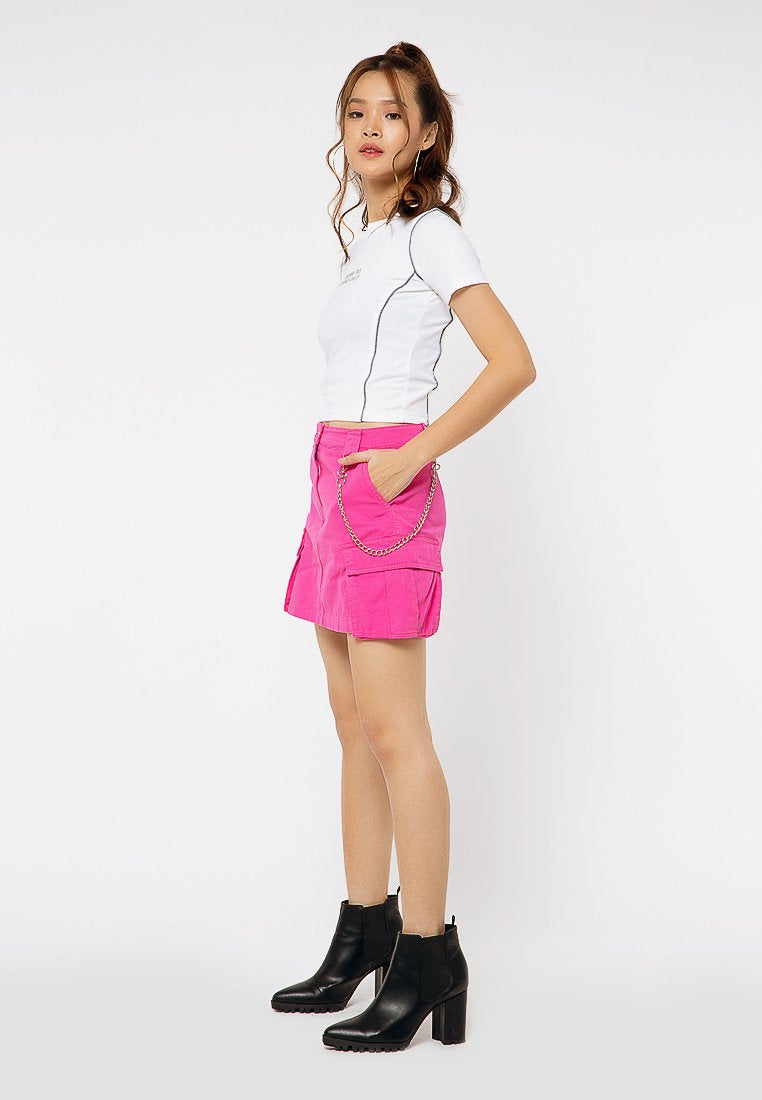 Cargo Skirt with Chain