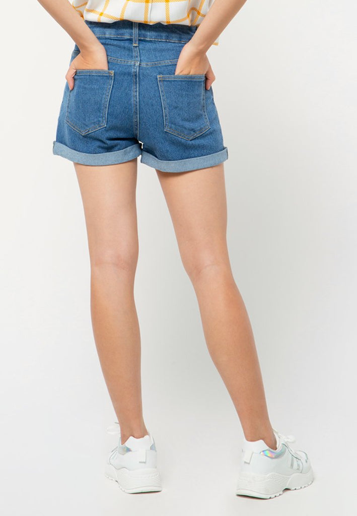 Denim Roll Up Short