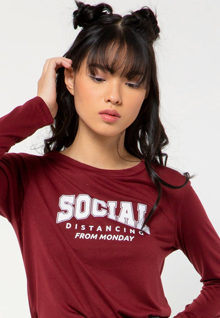 Social Distance Long Sleeves T-shirt