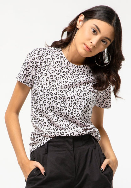 Cheetah Round Neck T-Shirt