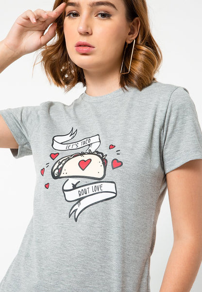 Let's Taco Bout Love Round T-shirt