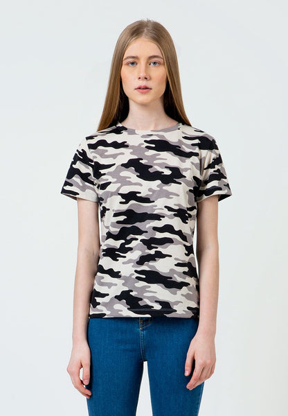 Grey Camo Crew Neck T-Shirt