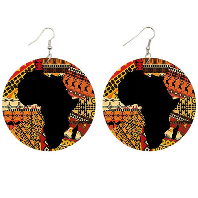 African Tribal Prints Wooden Earrings - Shades of My Melanin LLC