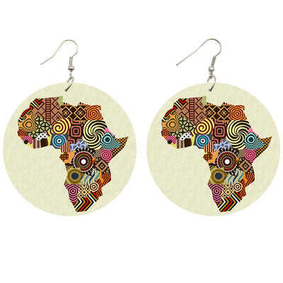 African Patterns Wooden Earrings - Shades of My Melanin LLC