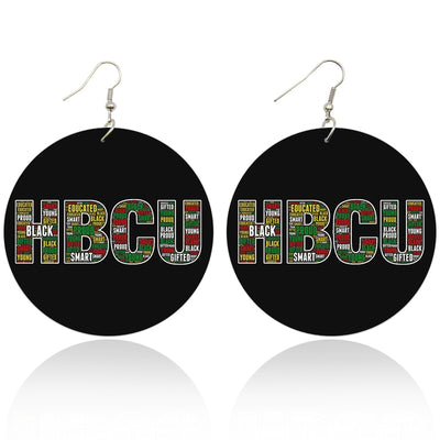 HBCU - Black, Smart, & Gifted Wooden Earrings - Shades of My Melanin LLC