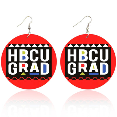 HBCU Grad Wooden Earrings - Shades of My Melanin LLC