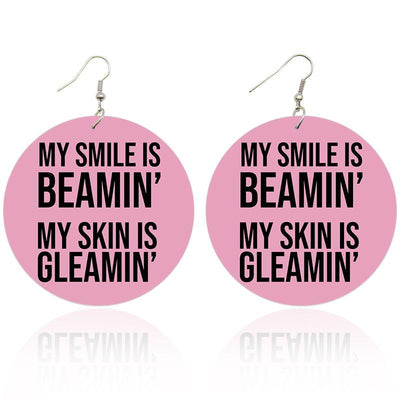 Smile Beamin' Skin Gleamin' Wooden Earrings - Shades of My Melanin LLC