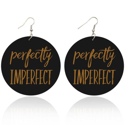Perfectly Imperfect Wooden Earrings - Shades of My Melanin LLC