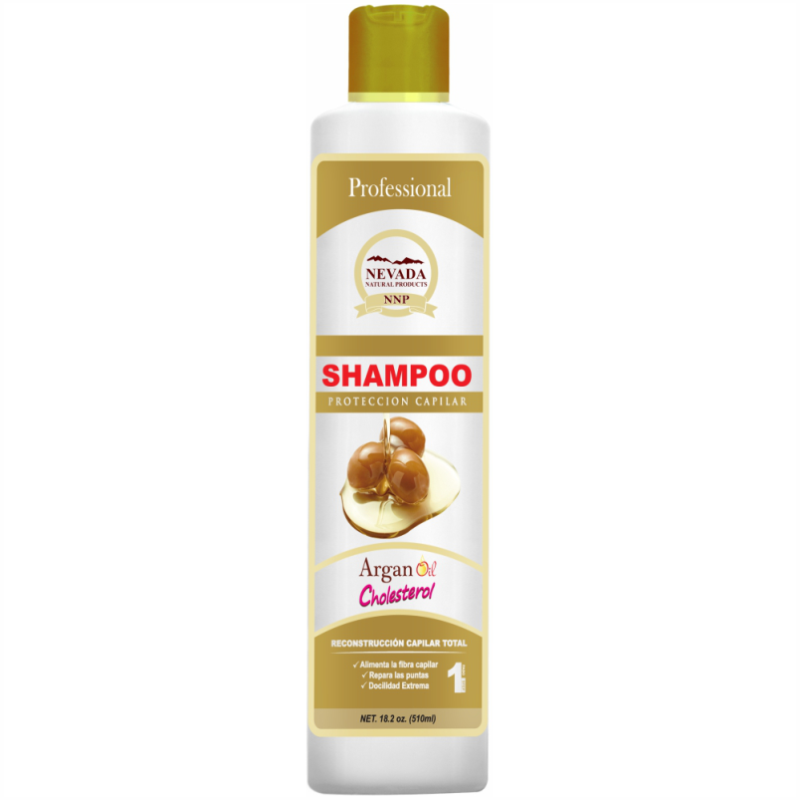 SHAMP NEVADA *510ml ARGAN CHOLESTEROL