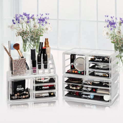 Cosmetic And  Jewelry Organizer Box