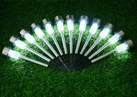 10 pcs Stainless Steel LED Path Lights For Garden / Yard
