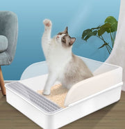Semi-closed Cat Litter Box Toilet Pet Wc