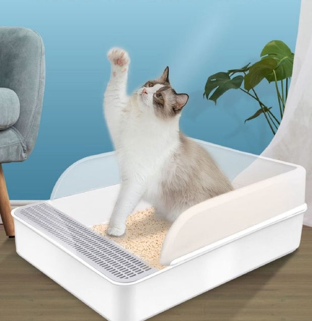 Semi-closed Cat Litter Box Toilet Pet Wc Cat Toilet Clean Basin Toilet Training Kit Inodoor Arenero Gato Pets Products